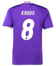 Wholesale Cheap Soccer Shirts Wholesale - 2016 new mens 8 KROOS Customized Soccer Jersey Wear Shirts,Cheap Thai Quality Soccer Shirts ,Fashion Sports 12 MARCELO 11 BALE Football WEAR