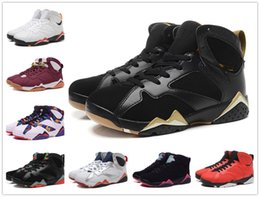 Wholesale Free Delivery Shoes - 2018 Retro 7 Basketball Shoes Women Men Sneakers Retros Shoes 7s VII Authentic Replica Zapatos Mujer Free Delivery