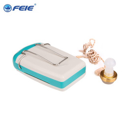 Wholesale Ear Hearing Aid Amplifier - Mini Audiphone pocket Hearing aids Deaf-aid Acousticon Sound Amplifier Ear Care with Battery S-93 Free Shipping