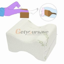 Wholesale Support Relief - Wholesale- Memory Foam Knee Leg Pillow Bed Cushion Wedge Pressure Relief Sleep Support Aid