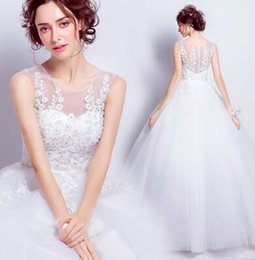 Wholesale Super Plus Size Wedding Gowns - New Arrival Hot Sale Fashion Luxury Princess Organza Lace Fairy Super Vintage Ruffle Flowers Nail Bead Neat Gown Noble Bridal Wedding Dress