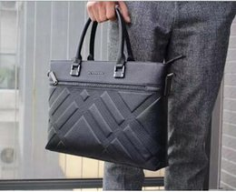 Wholesale Men Business Computer Bag - New B Brand Mens Business Bag Mens Briefcase Luxury Brand Name Leather Men Bag 100% Genuine Leather Purse Top Grade Quality Men Shoulder Bag