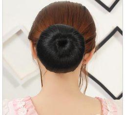 Wholesale Light Brown Hair Bun - 1pc Hair Scrunchy Hair Donut Hair Bun Ring To Blend With Own Hair Braider New Women Hairpiece 8 Styles available