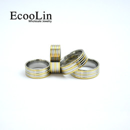 Wholesale Mens Rings Stones - 2017 New Design Fashion Classic Men Gold Stainless Steel Ring For Mens Jewelry Wholesale Bules Lots Never Fade LB4005