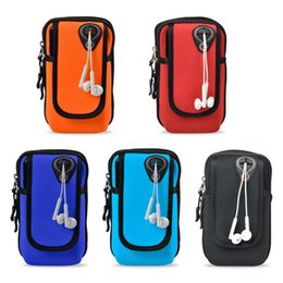 Wholesale Soccer Phone Covers - 7 colors Fitness Sport Wrist Hand 2 Cover Pouch Bag diving cloth material Waterproof Phone Case 4-6 Inch fitness equipment accessory