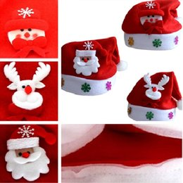 Wholesale Christmas Decoratio - Christmas Hats for Children Kids Cute Santa Claus Hats Christmas Cosplay Decoratio Caps Xmas Hats christmas gifts IC580