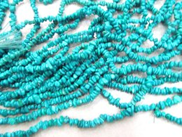 Wholesale Turquoise Stone Chip Beads - 2strands 4-15mm African Turquoise Gemstone Green Brown Chips Nuggets FreeForm Turquoise Beads