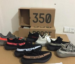 Wholesale Glow Green Shoes - With Original Box boost 350 V2 Belgua Copper Olive Green Black Red Glow dark SPLY 350 V2 season New kanye west Running shoes