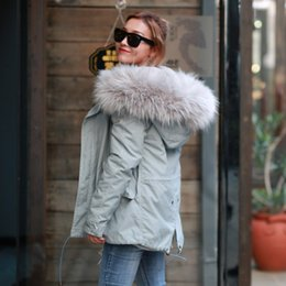 Wholesale Long Coats For Women - 2016 New Arrival Winter Thick Parka for Women size XS-XL ALL Fake Fur Gray Coat with Light Pink Fur and Gray Fur Outcoat