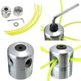 Wholesale Lawn Mower Parts - Universal Aluminum Line Bump Cutting Trimmer Head Bobbin Parts Sets Brushcutters Replacement Lawn Mower Cutter Accessories