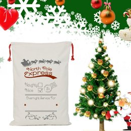 Wholesale Cotton Candy Favors - Christmas Drawstring Bag Gift Merry Christmas Santa Claus Large Decorations Candy Reindeers Cotton Sack Bags Festive Party Favors Eve