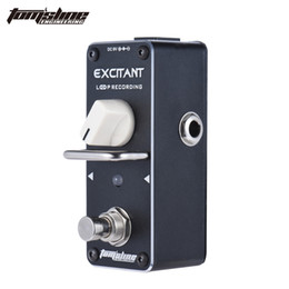 Wholesale Guitar Loop - AROMA ALP-3 Loop Recording Guitar Effect Pedal Looper Effect True Bypass Unlimited Overdubs True Bypass with Fastener Tape