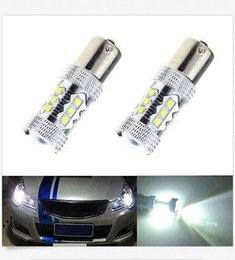 Wholesale Led Red Cree Brake - 10PCS 1156 1157 16SMD 80W Cree LED Bulb Car Reverse Backup Light Cree Projector wholesale price