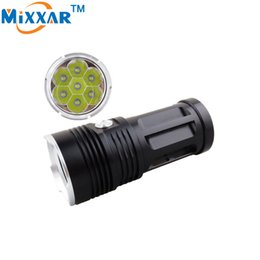 Wholesale Used Middle - LED Flashligh Cree XM-L T6 7000LM Flashlight 7x LED Beads Tactical Lantern Torch Can Be Used With 4x18650 Battery