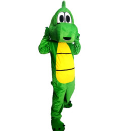 Wholesale Cartoon Character Costume Dinosaur - Green Dinosaurs Mascot Costumes Cartoon Character Adult Sz 100% Real Picture
