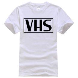 Wholesale Video Vcr - Retro VHS vcr, video cassette, tape, vintage, recorder, 80s Tee Shirt Unisex fashion women men short sleeve funny shirt 6 size