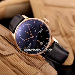 Wholesale High Power Watches - Super Clone Luxury Brand NOMOS GLASHUTTE Gangieserve Power Reserve Black Dial Automatic Mens Watch Leather Strap High Quality Gents Watches