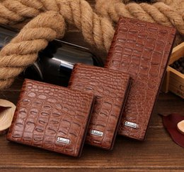 Wholesale Synthetic Leather Handbags Wholesale - New Fashion men Holding Purse Hand bag crocodile grain Fashion Handbag Clutch Bag fold Wallets mobile phone bag 3style GG28