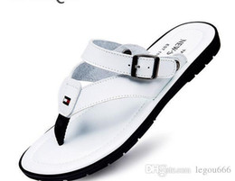 Wholesale Shoe Sandals For Men - Flip Flops Men Sandals Summer Slippers Shoes For Casual Walking Seaside Beach Breathable Slides Mens Brand Designer Flats Nice G155
