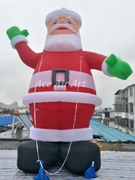 Wholesale Christmas Inflatable Santa Claus - 5 meters tall giant inflatable Christmas Decoration Santa Claus for Christmas Hoiliday Decoration or Advertising on Store