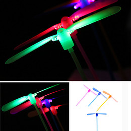 Wholesale Colorful Lighting Direct - Wholesale- 2017 Unisex Direct Selling Classical Toy Dragonfly Flying Led Spinning Light-up Traditional Colorful Children Toys Gift For Kids