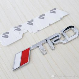 Wholesale Trd Sports Emblem - Aluminum Alloy Auto car TRD sports Fit for Emblem Badge Decal Sticker