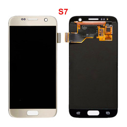 Wholesale Digitizer Frame Galaxy S3 - New arrived Original 3 Colors OLED LCD Display Touch Digitizer Frame Assembly Repair For Sumsung S3 S4 S5 S6 S7 S8 fast shipping