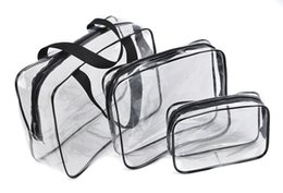 Wholesale Organizers For Suitcases - Wholesale- Travel toiletry women Transparent cosmetic bag organizer necesser female suitcase for makeup necessaire make up vanity with case