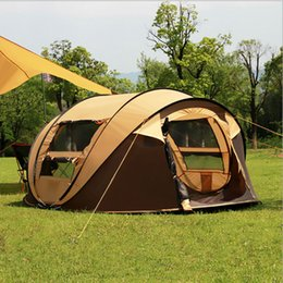 Wholesale Pop Up Tents - camping tents outdoor 3-4persons automatic speed open throwing pop up tent windproof waterproof beach tent large space