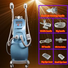 Wholesale Skin Cooling Device - cool tech fat freezing slimming machine Newest Cavitation RF Laser Wrinkle Removal Weight Loss Skin Body Beauty Device