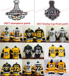 Wholesale Pittsburgh Embroidery - 2017 Stanley Cup Champions Pittsburgh Penguins 81 Phil Kessel 72 Patric Hornqvist 68 Jaromir Jagr Ice Hockey Jerseys Embroidery Logo