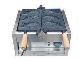 Wholesale Electric Fishing Machine - Free Shipping 110V 220v Electric 3 Pcs Fish Taiyaki Maker Machine with Recipe Fish Waffle Iron Snacks Equipment