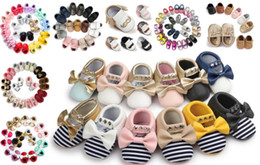 Wholesale Toddler Shoes Buckles - Fashion Suede PU Leather Infant Toddler Newborn Baby First Walkers Crib Moccasins Soft Moccs Shoes Footwear