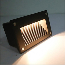 Wholesale Ip67 Led 12v - led stair light 3W underground lamps IP67 deck step paitio recessed inground lights floor garden landscape wall outdoor lighting