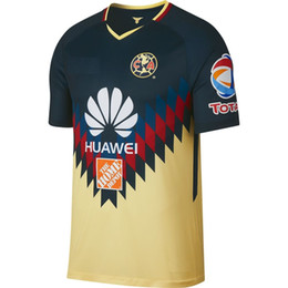 Wholesale Men America - Mens 2017 2018 liga mx clausura club america home jersey camisetas local de club america 2017 2018