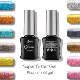 Wholesale Gel Unhas - Wholesale- 2016 2 pieces lot New MRO Super Glitter color Gel nail polish esmaltes permanentes de uv gel varnishes nail glue unhas de gel