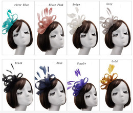 Wholesale Fascinator Headpieces - 8 Colors , 2017 Cheap Wedding Ladies Hat Headpieces, Wedding Bridal Hats , Fascinator Hats,Kentucky Derby Hats For Wedding Party