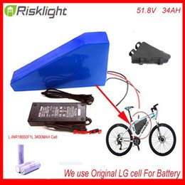 Wholesale 8fun Mid Drive - 51.8V 34AH 14S Ebike Triangle lithium battery 52V 34Ah li-ion battery pack for 8fun BBS03 48V 1000W mid drive motor Use LG Cell