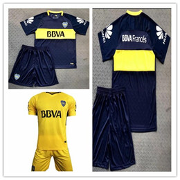 Wholesale Boca Juniors - Thai quality 2017 2018 Boca Juniors Soccer Jersey Home Away 3RD Boca Juniors GAGO OSVALDO CAR 17 18LITOS PEREZ P Football shirts KIT