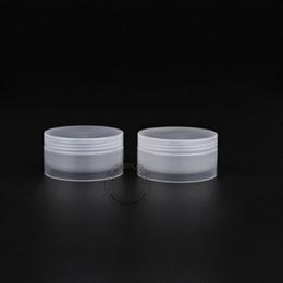 2019 emballage de masque facial Livraison gratuite-Excellente Maquillage Outils 50g / 50cc Contenant D'emballage Cosmétique Pot En Plastique Transparent Pour Masque Facial / Crème Pour Les Mains 30pcs emballage de masque facial pas cher