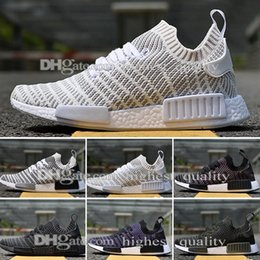 Wholesale Comfortable Boots For Men - Casual NMD boots socks Black Grey Runner Shoes Lightweight Breathable Comfortable Walking mens running shoes for men Women designer shoes