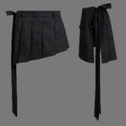 Wholesale Nightclub Drapes - Wholesale-Men's short skirts hypotenuse tether apron casual skirt shorts men nightclub punk stage fashion show costumes shorts K974