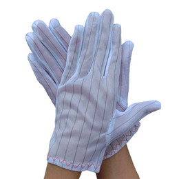 Wholesale Slip Anti Static - High Quality Good Elasticity 10 Pairs Breathable Polyester White Anti-static Anti-slip Gloves Labor Protection Gloves Hot Sale