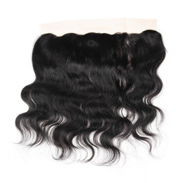 Wholesale Swiss Lace Frontals - Brazilian Body Wave Virgin Human Hair Extensions 13x4 Ear To Ear Lace Frontal Closure,8-20 Inch Density 130% Swiss Lace Closure Frontals