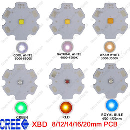 Wholesale 16 1w Led - Wholesale- 5x Cree XLamp XB-D XBD Q5 Warm Cold Neutral White Red Royal Blue Green Color 1W 3W High Power LED Emitter on 8 12 14 16 20mm PCB