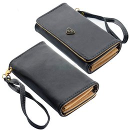Wholesale Wall Compartments - Wholesale- 2017 Fashion Purses Envelope Card Hold Wall PU Leather Long Purse Female Wallet Clutch Case Cover for Phones Carteira Feminino