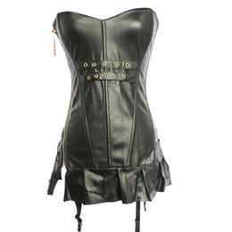 Canada Mesdames En Cuir Corset Robe Push up New Gothique Bustiers Soirée Porter Des Corsets Costume Chaud Fille Sexy Lingerie 9002 Offre