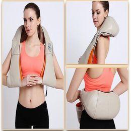 Scialli massaggi online-Massager della spalla Timing Infrared Cervical Massage Scialli Cuscino confortevole Massaggiante Collo Cuscini Massaggio corporale Alleviare il dolore Rilassare il corpo