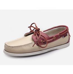 Wholesale Men Boat Shoes Green - Driving Moccasins Men Shoes 2017 Handmade 100% Genuine Leather Boat Shoes Men Loafers Luxury Brand,Summer Men Casual Shoes Flats