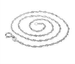 Wholesale Silver Plated Wave Chain - 100PCS Silver Necklace Chain of water waves Female han Edition Jewelry S925 Silver silver Necklace with Free shipping